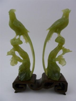 antique vintage chinese green jade serpentine bird statues on stand 1 thumb2 lgw - Il mio devoto cane, poesia di  Rabindranth Tagore